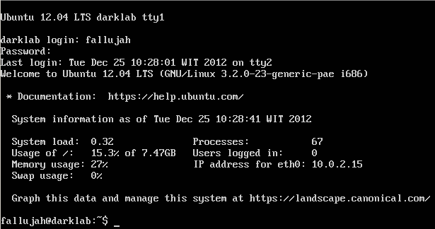 Gambar 2. Command Prompt Bash