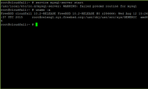 MySQL Server 5.7 Startup Problem on FreeBSD 10.2