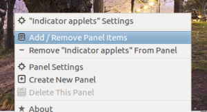 Add Renive Panel Applets