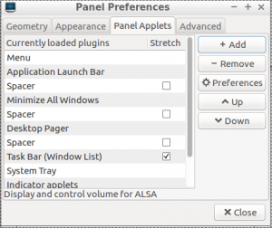 Add Panel Applets